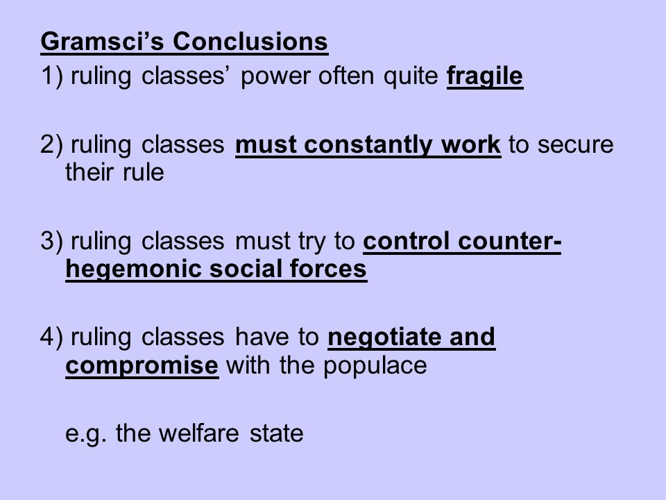 Gramsci's Conclusions