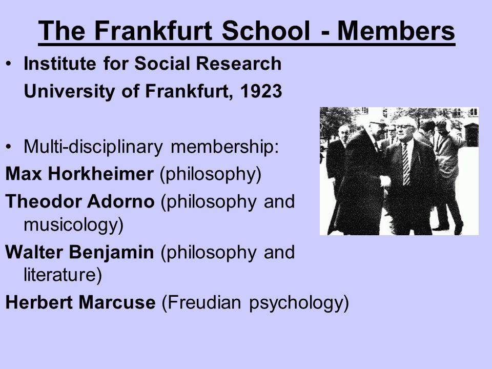 The Frankfurt School - Members