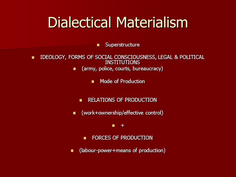 Dialectical Materialism