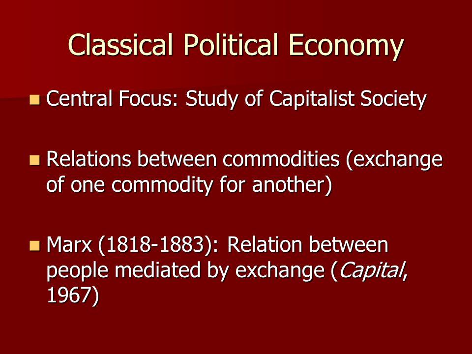Classical Political Economy