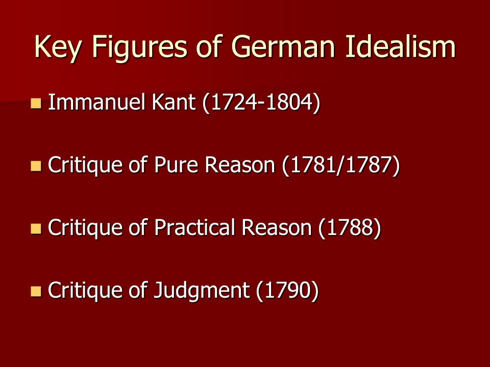 Key Figures of German Idealism