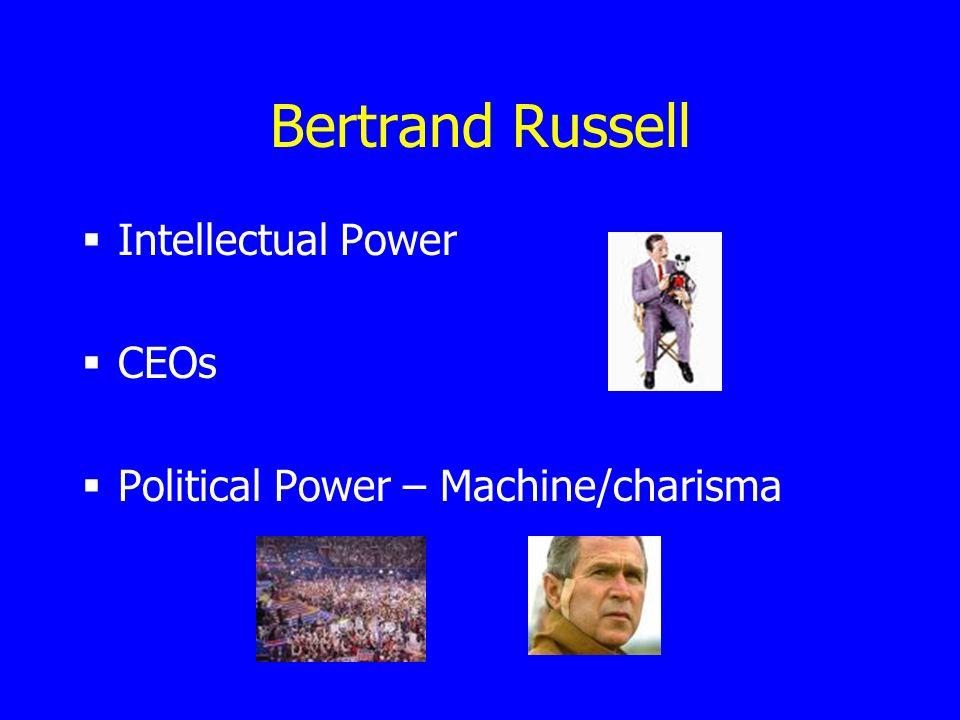 Bertrand Russell Intellectual Power CEOs