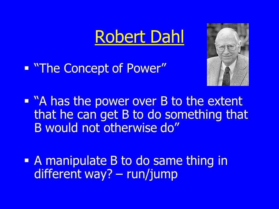 Robert Dahl The Concept of Power
