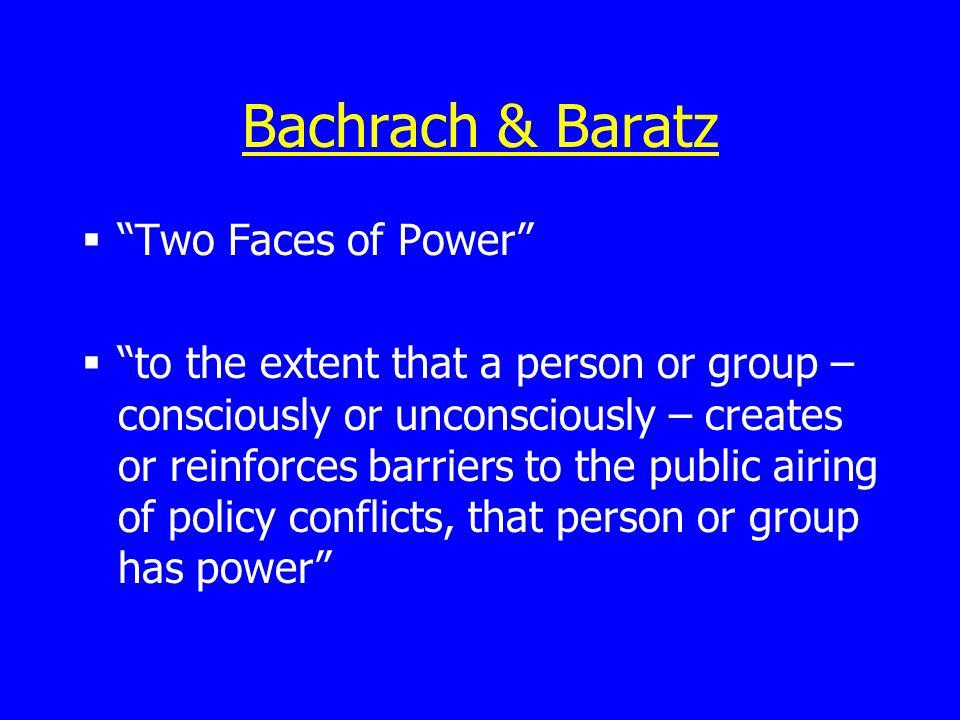 Bachrach & Baratz Two Faces of Power