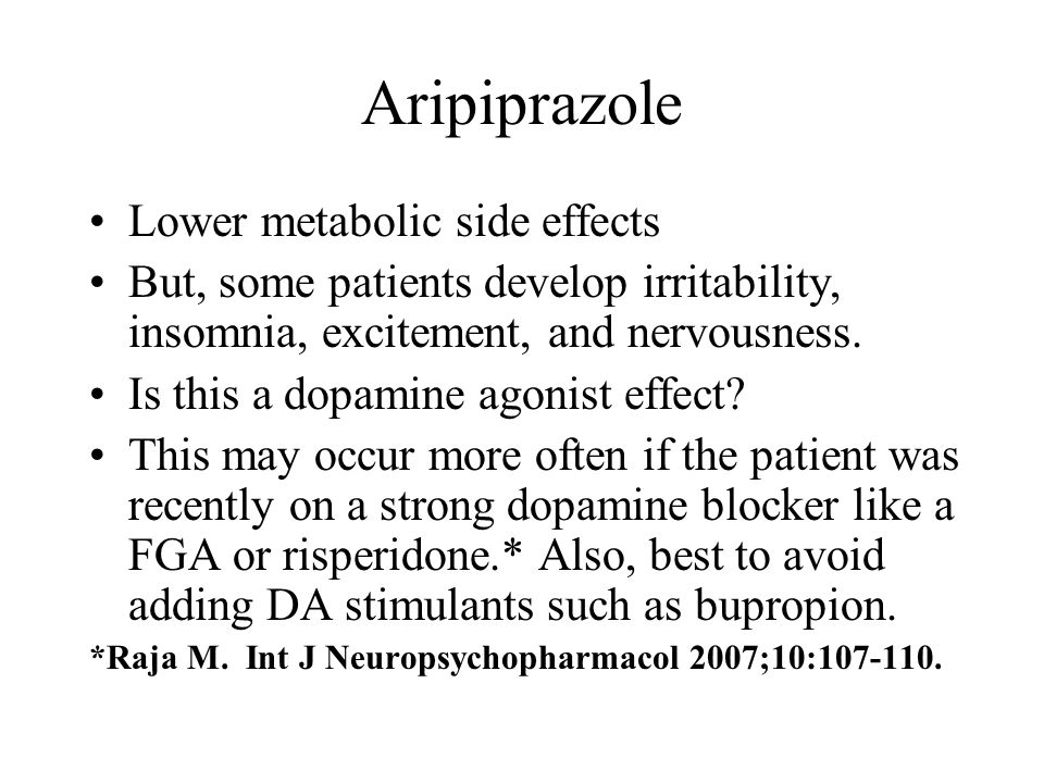 Aripiprazole Side Effects Withdrawal