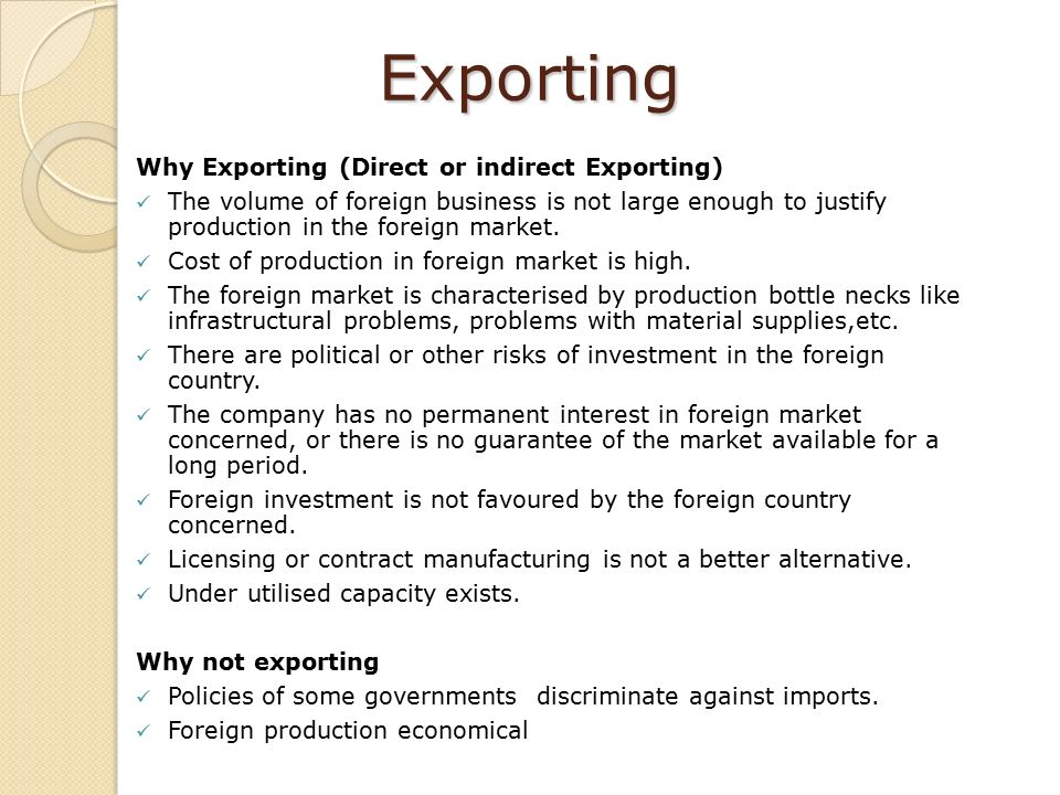 Entering new market outside home country ppt download for Import direct inc