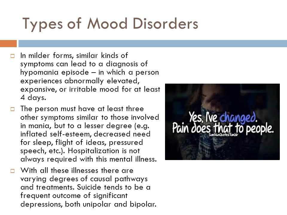 an overview of the three major types and symptoms of depression Summary depression is a different types of depression and have also experienced several of the signs and symptoms across at least three of the categories in.