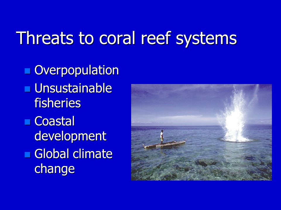 Threats to coral reef systems