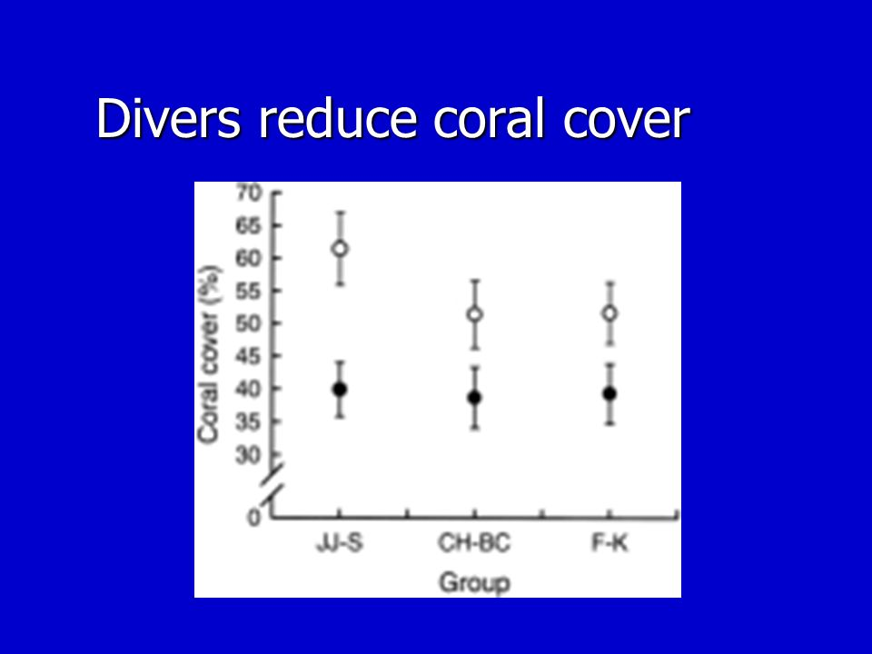 Divers reduce coral cover