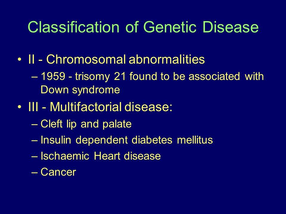 Classification of Genetic Disease