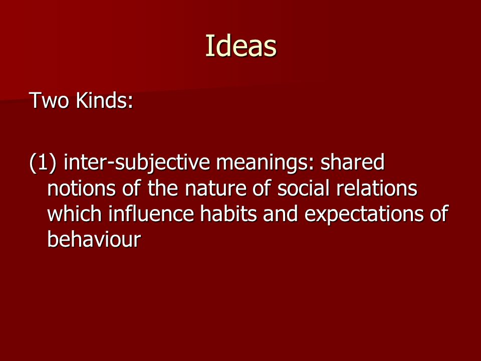 Ideas Two Kinds: