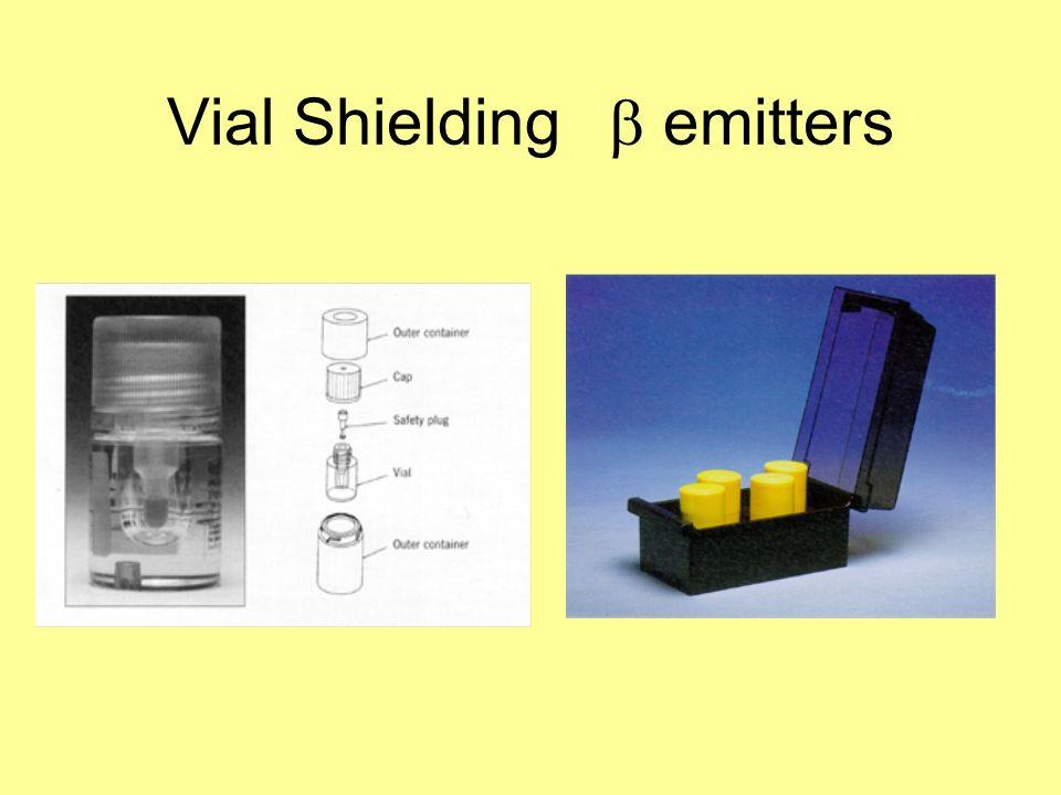 Vial Shielding b emitters