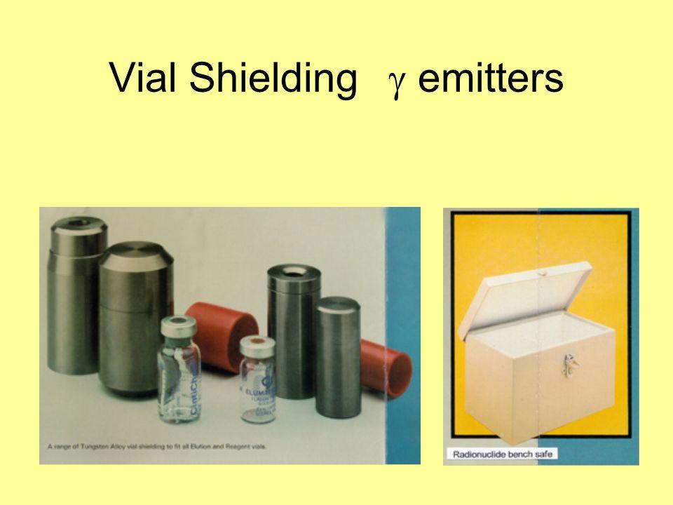 Vial Shielding g emitters