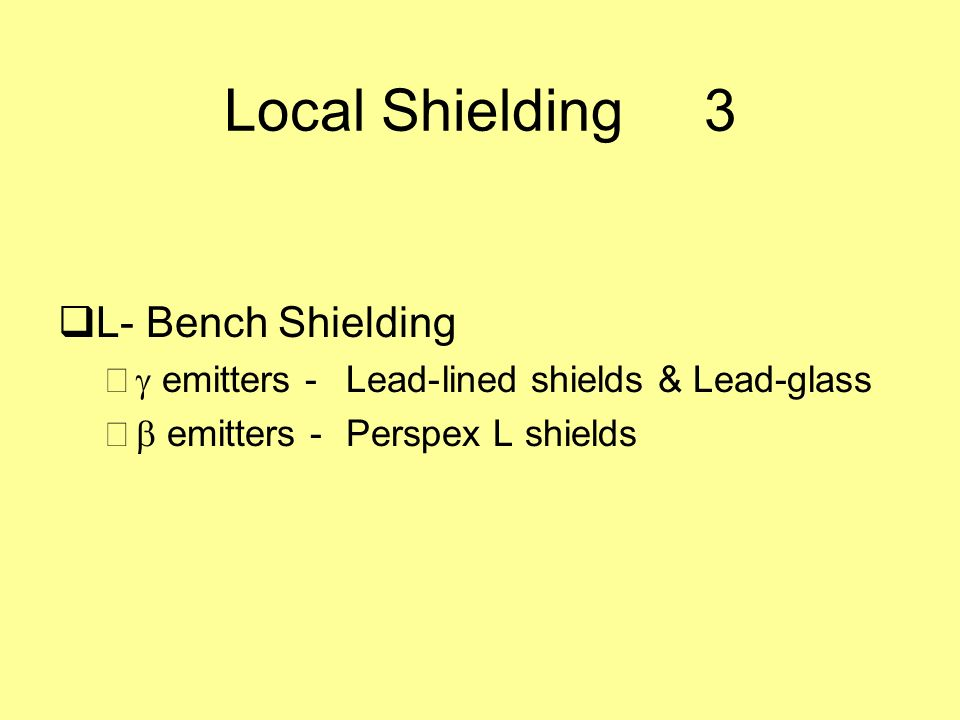 Local Shielding 3 L- Bench Shielding