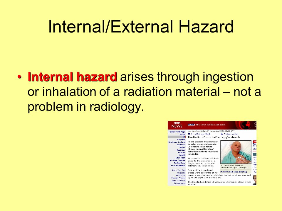 Internal/External Hazard