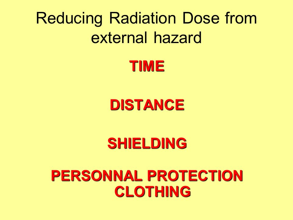 Reducing Radiation Dose from external hazard