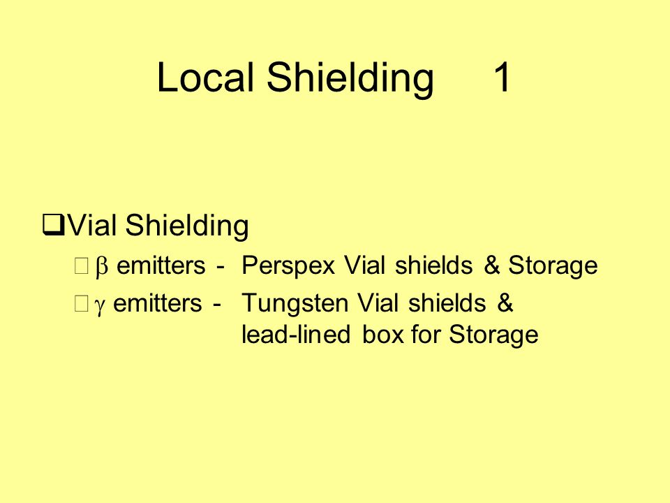 Local Shielding 1 Vial Shielding