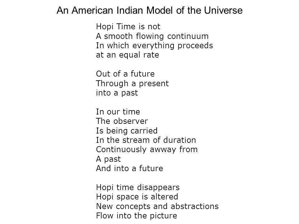 An American Indian Model of the Universe