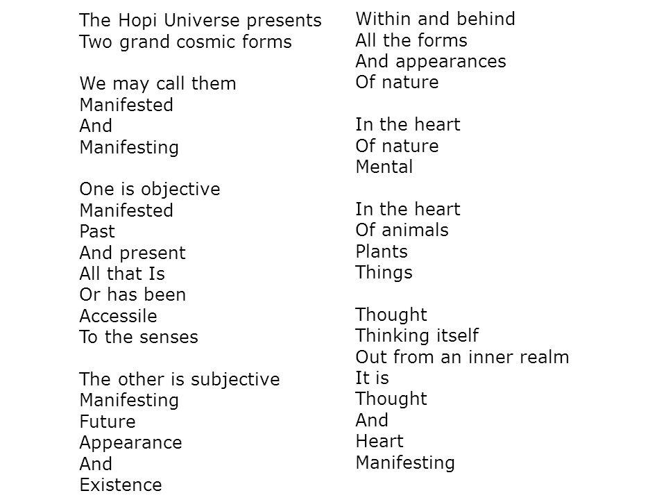 The Hopi Universe presents