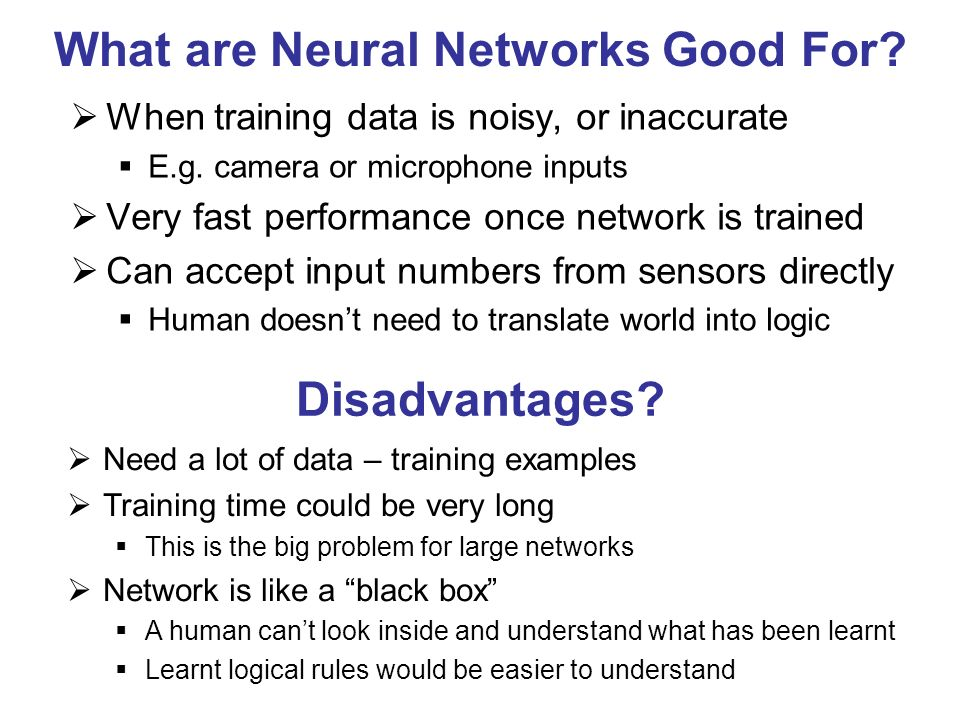 What are Neural Networks Good For