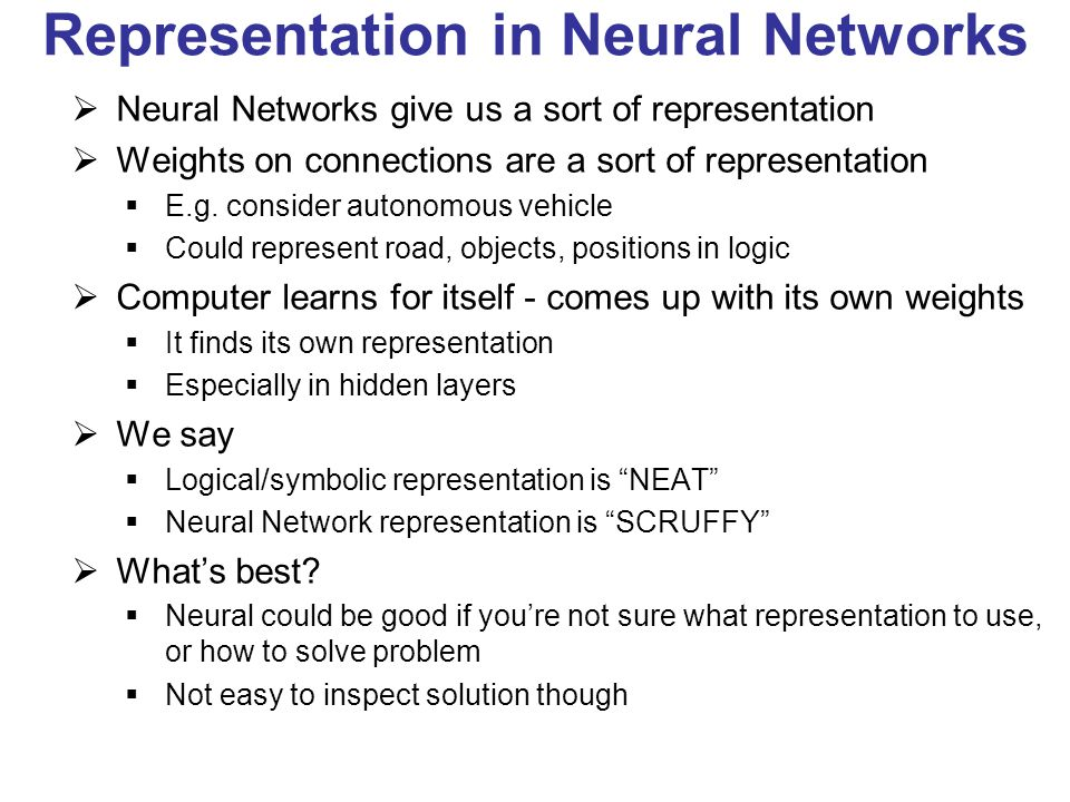 Representation in Neural Networks