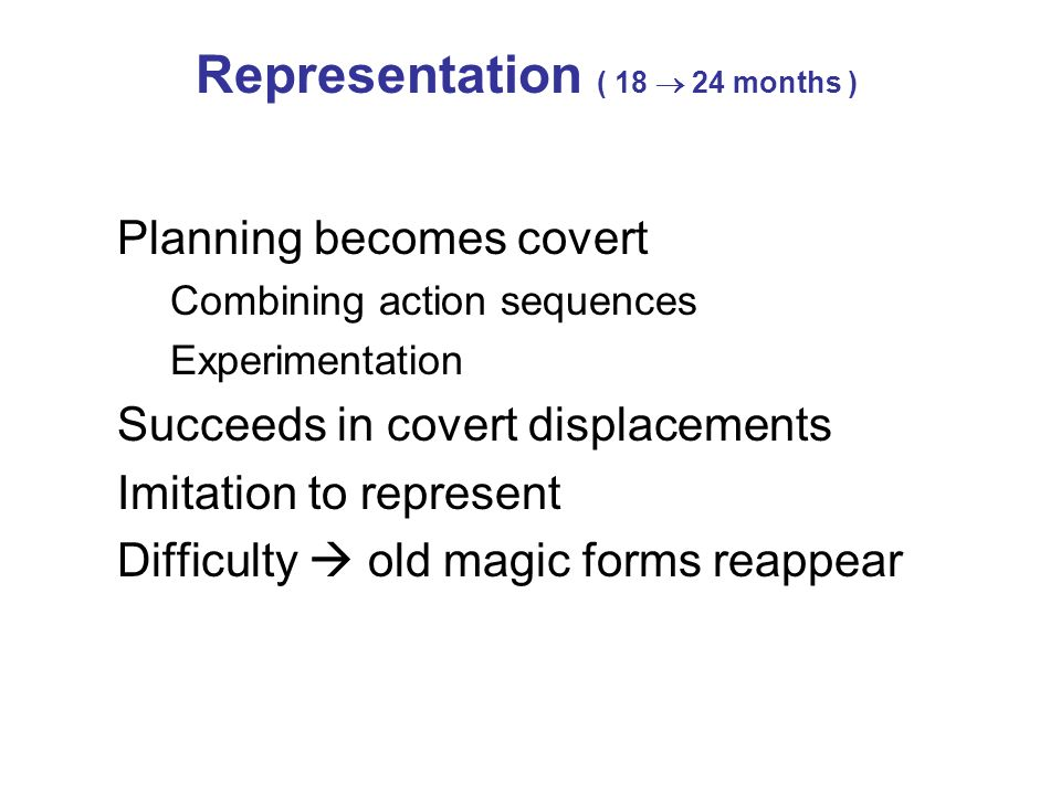 Representation ( 18  24 months )