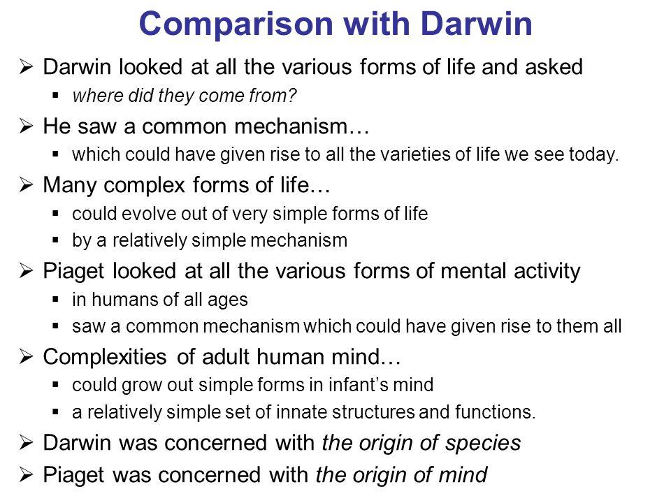 Comparison with Darwin