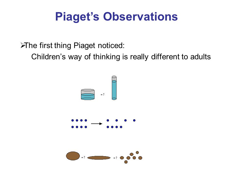 Piaget's Observations