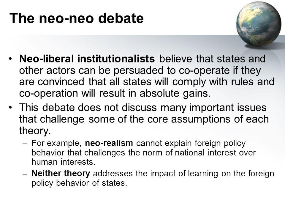 The neo-neo debate