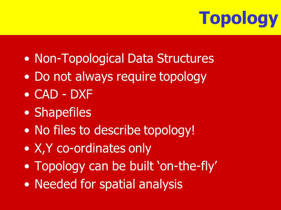 Topology Non-Topological Data Structures