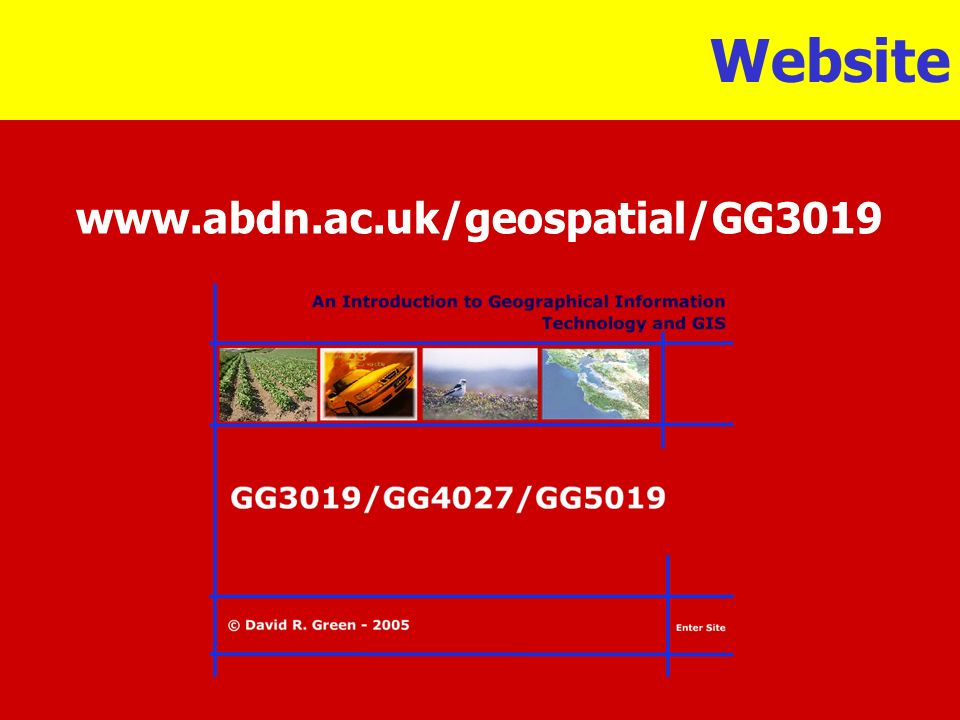 Website www.abdn.ac.uk/geospatial/GG3019