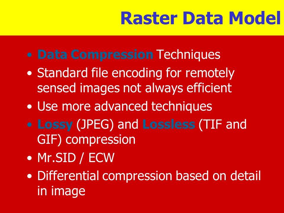 Raster Data Model Data Compression Techniques