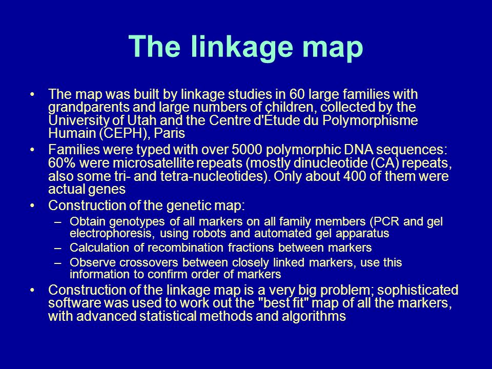 The linkage map