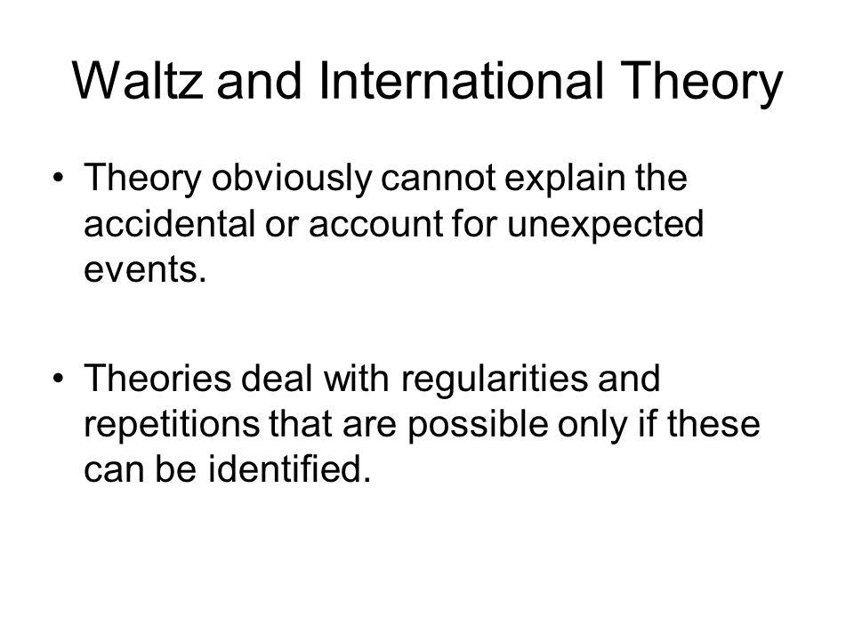 Waltz and International Theory