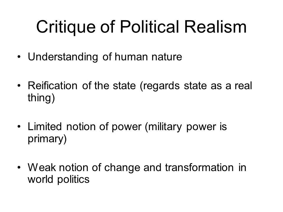 Critique of Political Realism