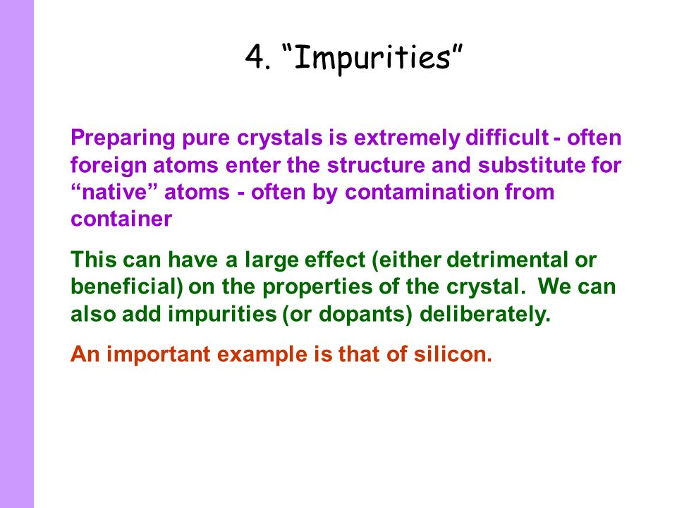 4. Impurities