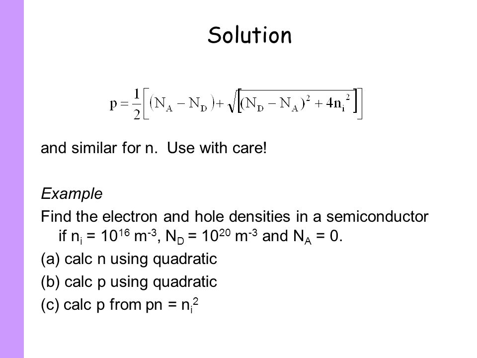 Solution and similar for n. Use with care! Example