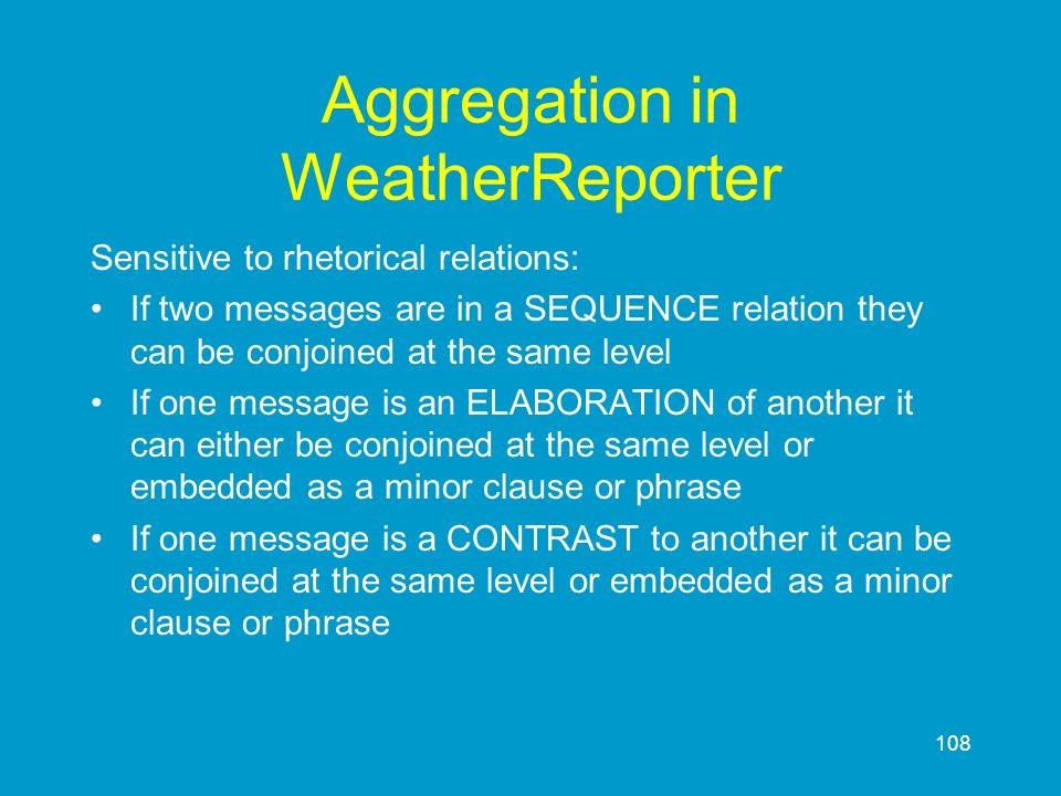 Aggregation in WeatherReporter