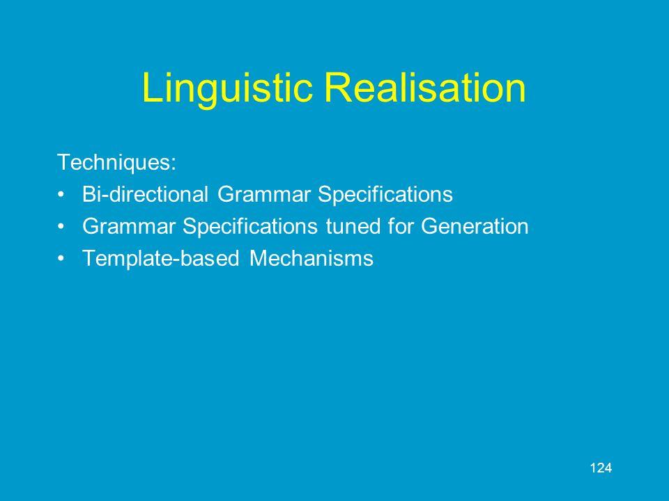 Linguistic Realisation
