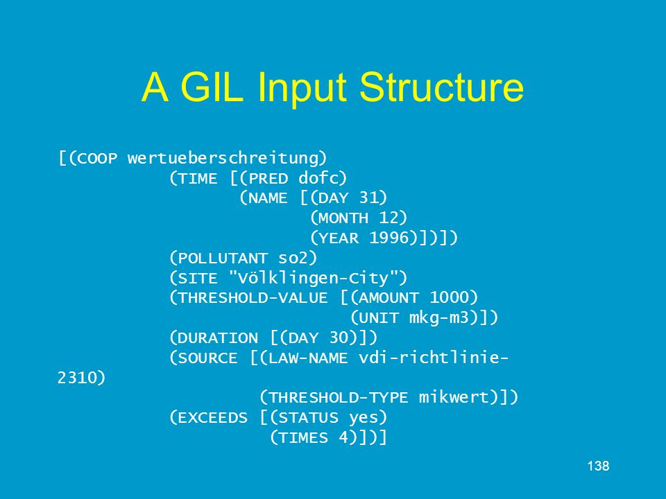 A GIL Input Structure