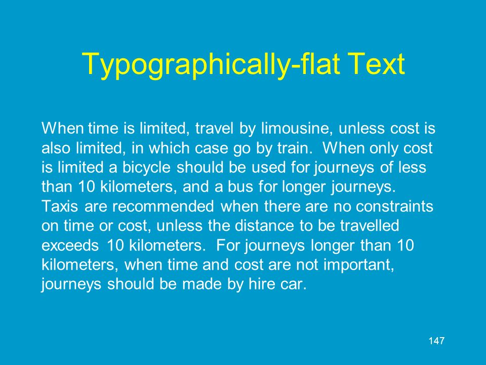 Typographically-flat Text