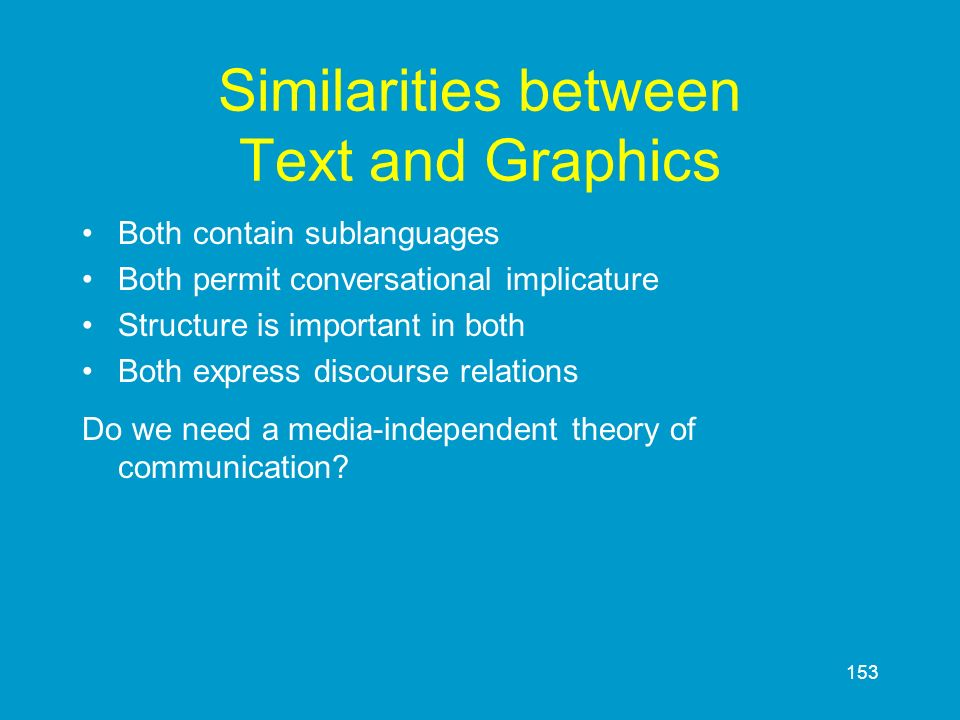 Similarities between Text and Graphics