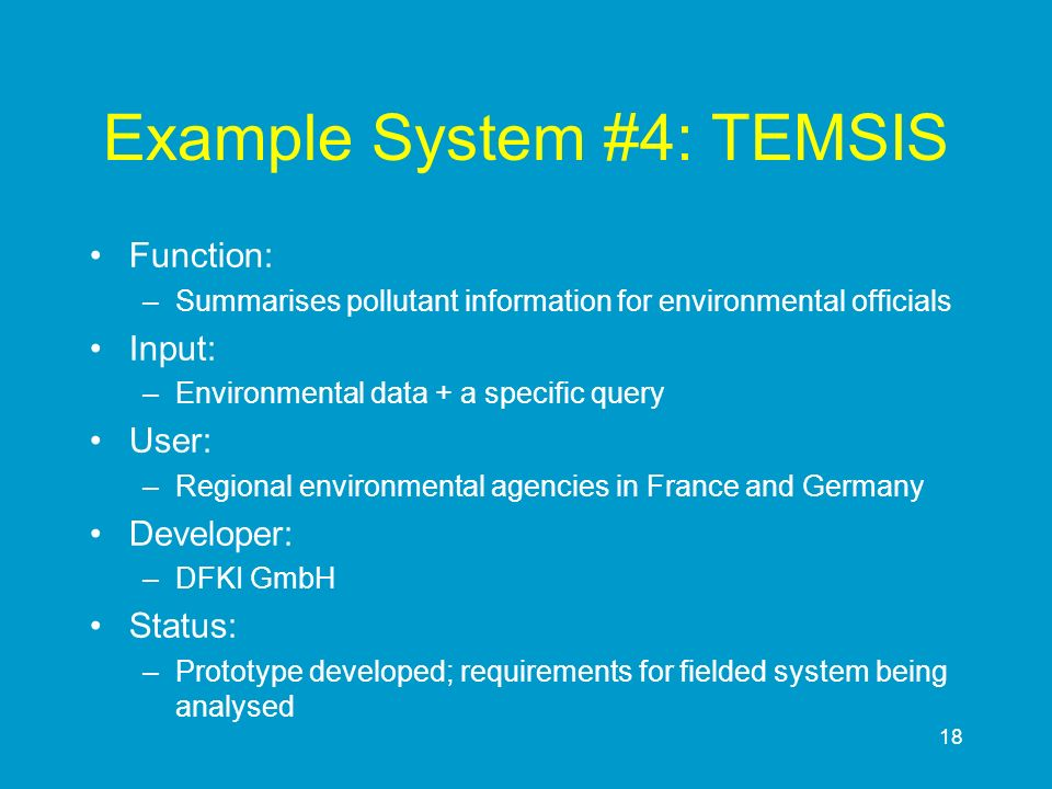 Example System #4: TEMSIS