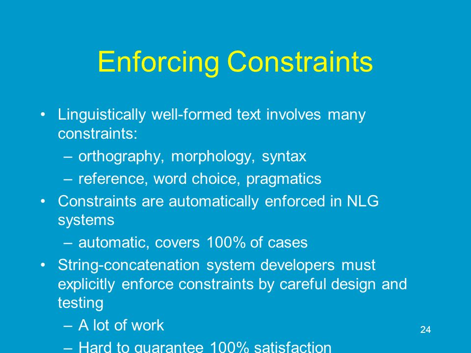 Enforcing Constraints