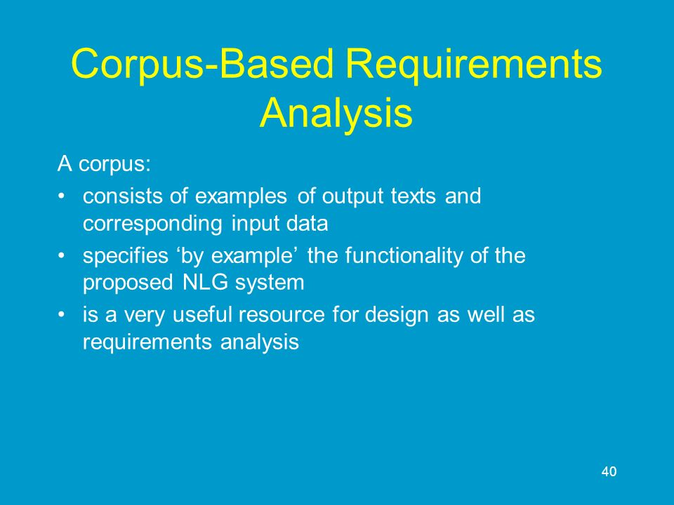 Corpus-Based Requirements Analysis