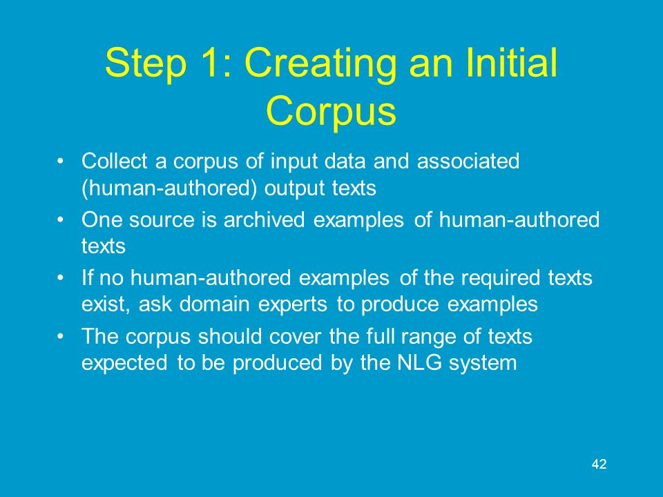 Step 1: Creating an Initial Corpus