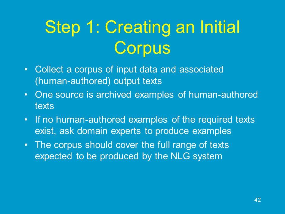 Step 1: Creating an Initial Corpus