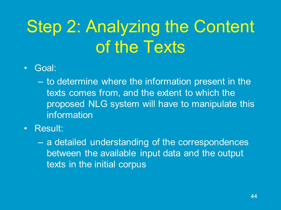 Step 2: Analyzing the Content of the Texts