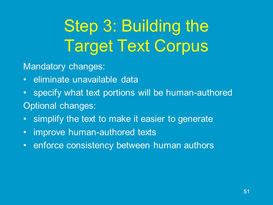 Step 3: Building the Target Text Corpus