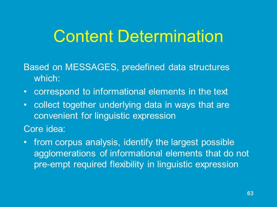 Content Determination
